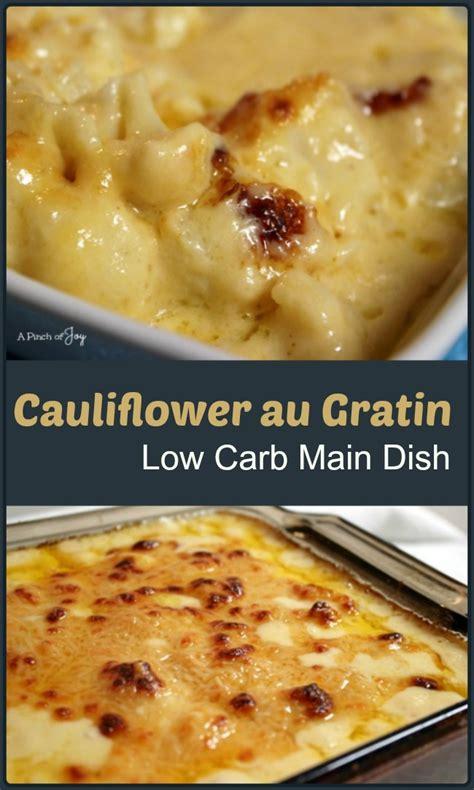 low carb dish mock n cheese aka cauliflower gratin
