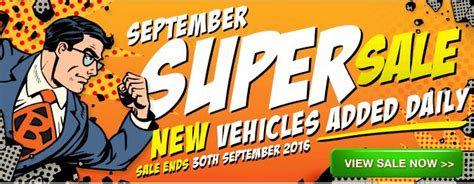 Sale Now On Superwide september sale supporters