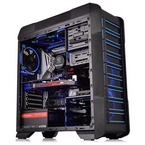 gabinete thermaltake gabinete thermaltake versa n23 middle tower preto azul r