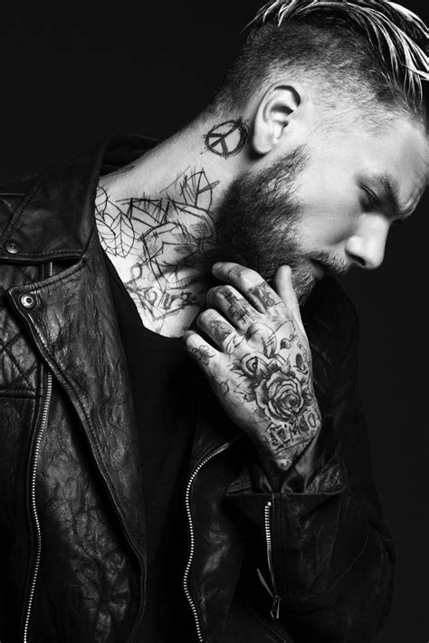 keno weidner flaunts his tattoos for bowen fall winter