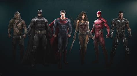 justice league film roster justice league trailer reveals zack snyder s dc film
