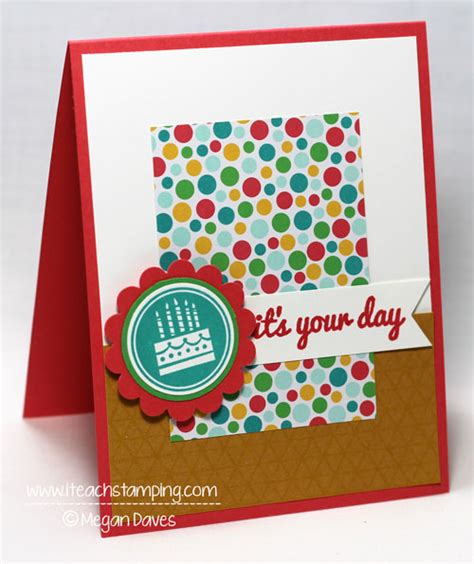 Simple Handmade Birthday Cards - a simple handmade birthday card i teach sting