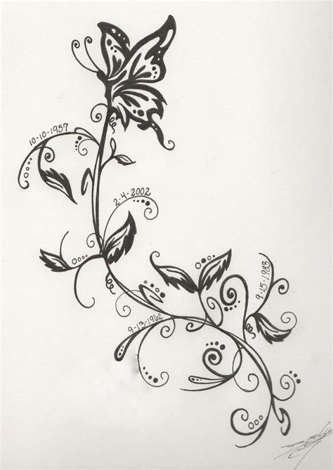 family date tattoo design by wafflemistress on deviantart