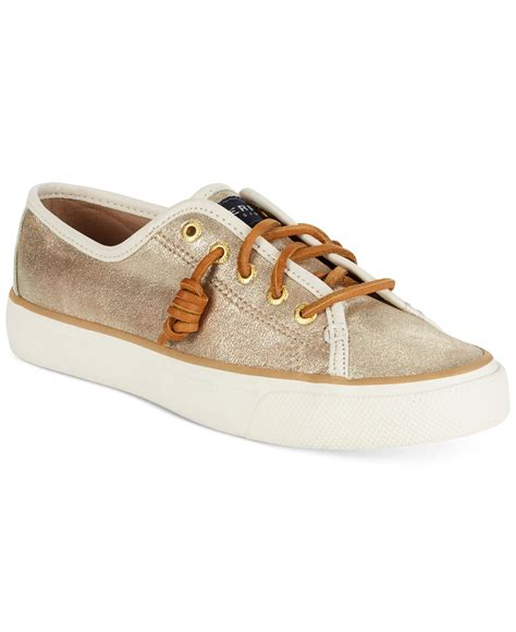sperry sneakers womens sperry top sider s seacoast platinum sneakers in