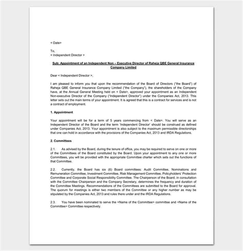 appointment letter of company company appointment letter 9 docs for word and pdf format