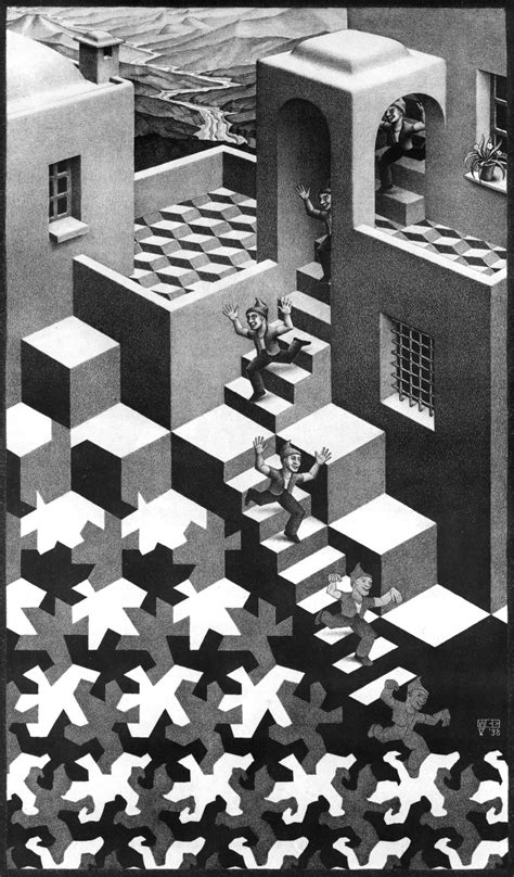 M C Escher Sketches by Day 327 M C Escher Absurdly Impossible Day Of The Artist