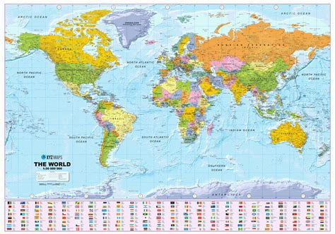 maps maps maps scottish world political wall map large size xyz maps