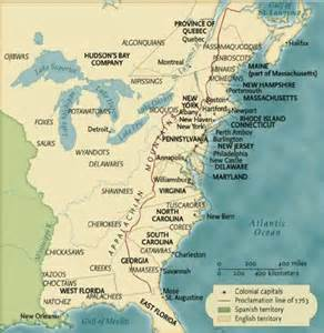 map of eastern america map 1750 america images