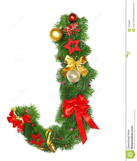 pictures of christmas trees decorated letter of christmas alphabet letter j stock image image 16639893