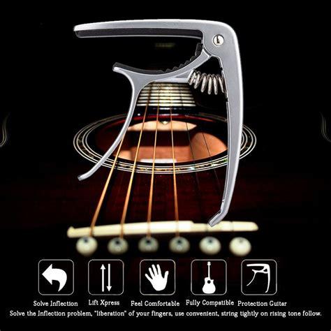 capo gitar chord acoustic standart aluminium alloy black jakartanotebook
