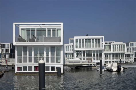 floating houses dutch floating houses district amsterdam holland most