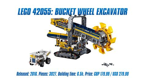 technic bucket wheel excavator technic 42055 bucket wheel excavator unboxing
