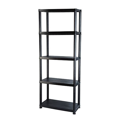 addis 5 tier heavy duty plastic shelving unit wickes co uk