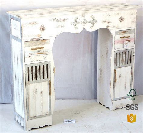 shabby chic home decor wholesale wholesale hongwei handmade white shabby chic vintage wood drawers cabinet for livingroom wood