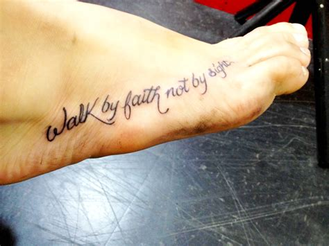 walk by faith foot tattoo faith tattoos designs ideas and meaning tattoos for you