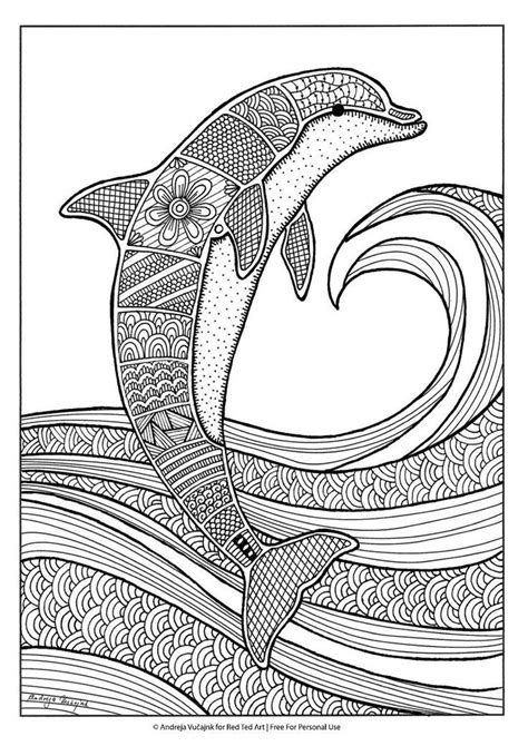 dolphin coloring book free colouring pages for grown ups dolphins