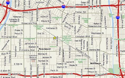 paramount california map directions to thor sales co