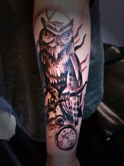 owl tattoo lower arm owl tattoo on forearm designs ideas and meaning tattoos