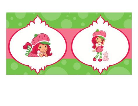 strawberry shortcake printable birthday banner diy design den strawberry shortcake birthday party free