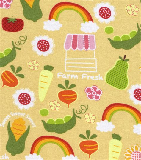 Novelty Quilting Fabric by Novelty Quilt Fabric Farmers Market Jo