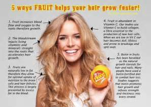 how to make your hair grow faster 5 ways fruit helps your hair grow faster make your hair grow pinterest beauty hair grow
