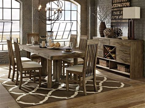Magnussen Dining Room Furniture Adler 7pc Rectangular Solid Acacia Dining Room Set Table 6 Chairs Bana Home Decors Gifts