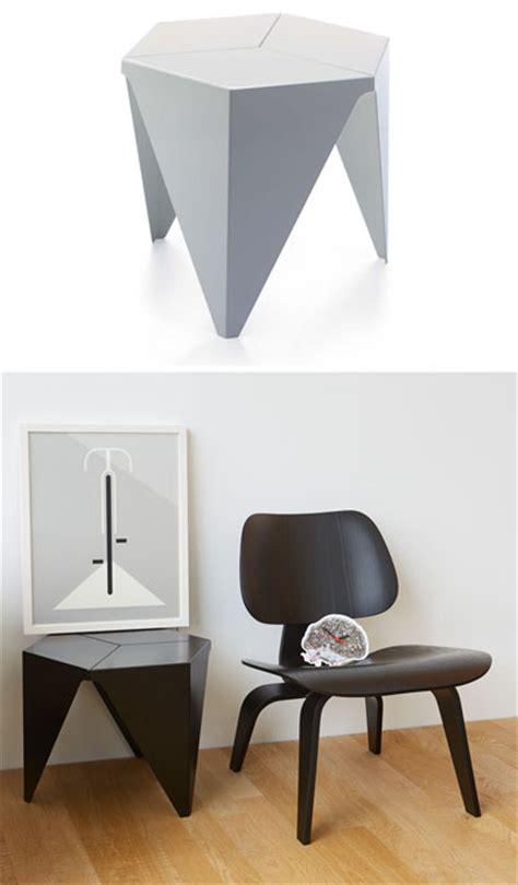 vitra design aluminum prismatic   side table  isamu noguchi novacom