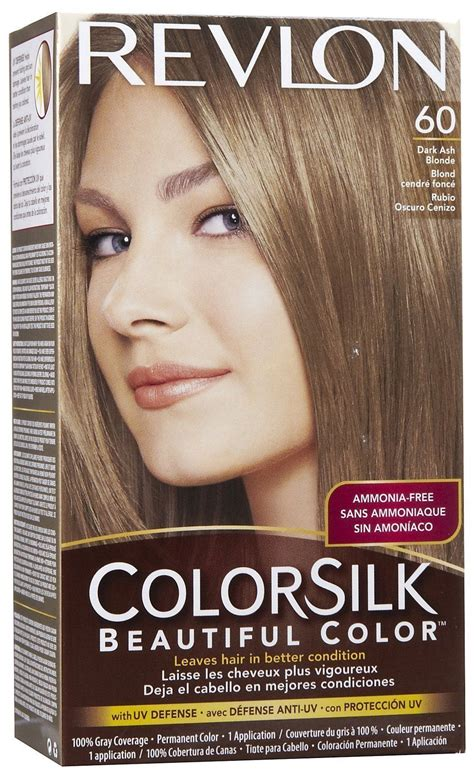 dark ash blonde revlon revlon colorsilk beautiful color permanent hair color 60