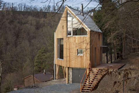 tiny house france czech republic cabin e architect a hexagon shaped wooden house a lt architekti small