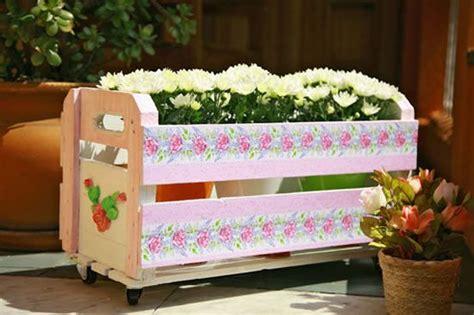 como decorar um caixote de feira