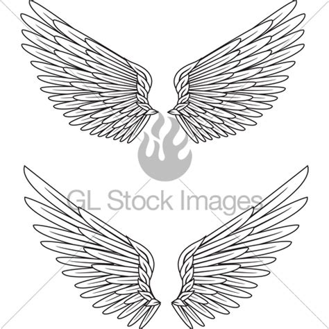 angel tattoo spread wings wings tattoo 183 gl stock images