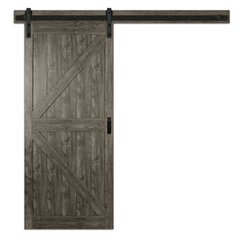 iron age prefinished mdf barn door hardware included