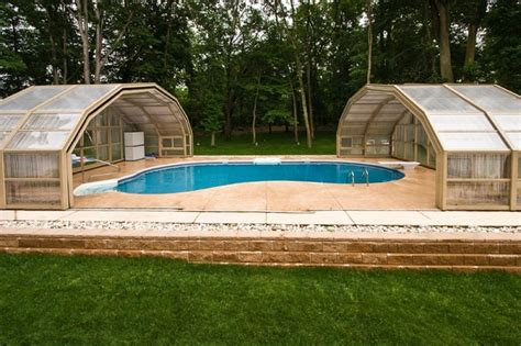 enclosed backyard stunning enclosed nj backyard swimming pool