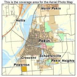 Pekin Illinois Map by Aerial Photography Map Of Pekin Il Illinois