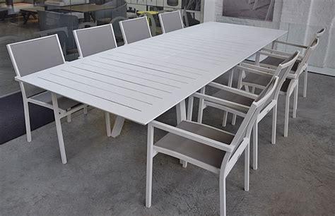 salon de jardin aluminium 421 salon ofanto table 200 300 alu blanc 8 chaises brian