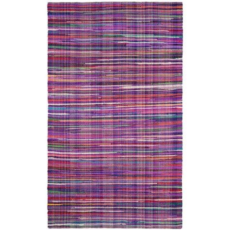 Safavieh Rag Rug Purple Multi 4 Ft X 6 Ft Area Rug 4 Foot Rugs