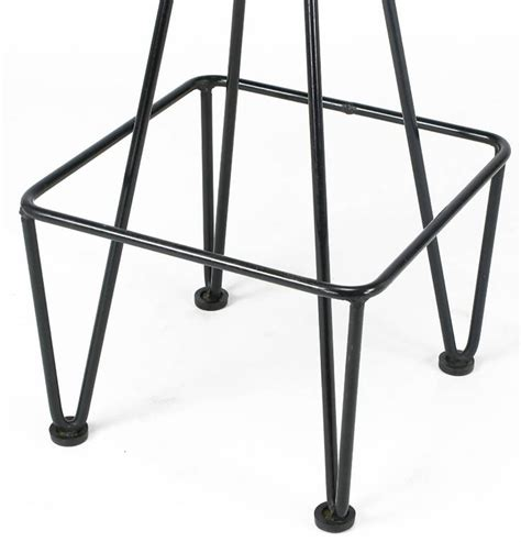 Wrought Iron Bar Stools For Sale by Six Wrought Iron Bar Stools After Frederick Weinberg For