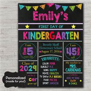 Day Of School Sign Template by Day Of School Chalkboard Sign Template Day