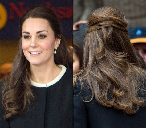 half up half down hairstyles kate middleton half updo without a hat kate middleton s best