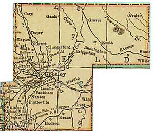 weld county colorado genweb project maps