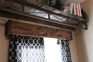 Rustic Window Valances Embellishments Project Post 6 Levi S Barnwood Shelf