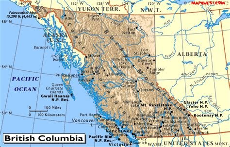 map canada bc maps of columbia canada