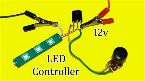 led light controllers simple 12v led light controller circuit