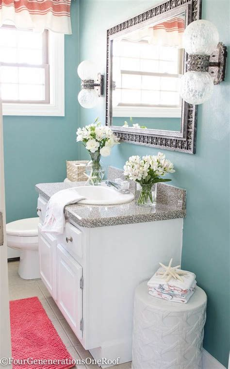 gorgeous blue green powder room makeover before after i how the blue paint color