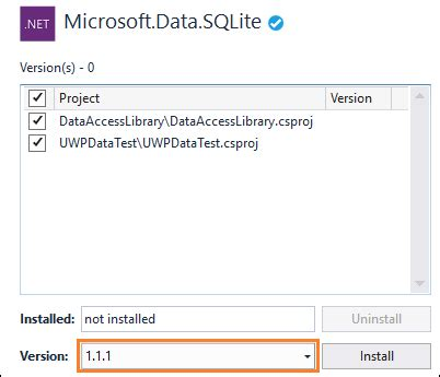 use a sqlite database in a uwp app uwp app developer