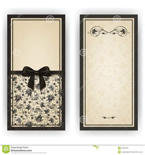 elegant vector template for luxury invitation stock image
