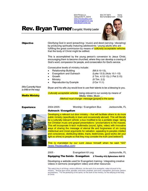 Pastor Resume Sles Free 7 Best Images About Resume S On Shops The
