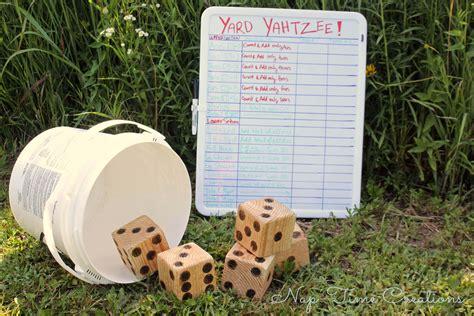 Backyard Yahtzee Yard Yahtzee And Summer Part 9 Nap Time Creations