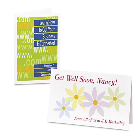Half Fold Greeting Card Paper - half fold greeting cards inkjet 5 1 2 x 8 1 2 matte