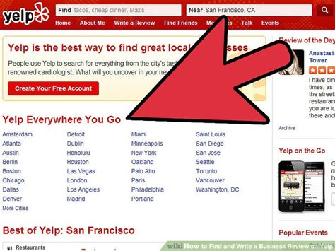 Find On Yelp How To Find And Write A Business Review On Yelp 5 Steps